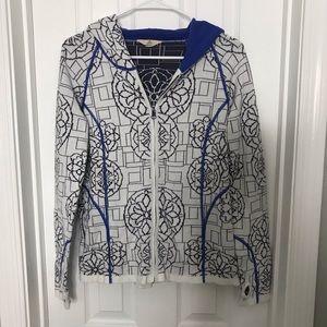 Ascend Printed Zip Up Sweatshirt Hoodie
